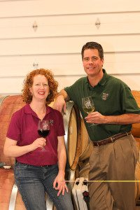 TR. Laura and Jim Pfeiffer enjoying wine.